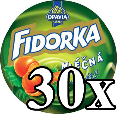 FIDORKA - Milk Chocolate with Hazelnut 30x